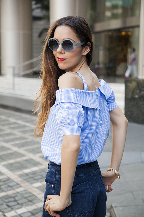 Top con spalle scoperte | outfit estivo | look estate