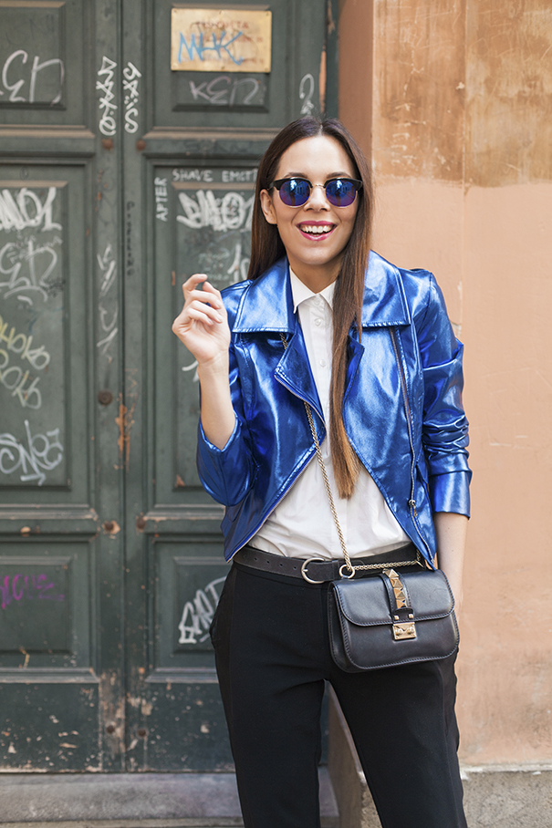giacca blu elettrico