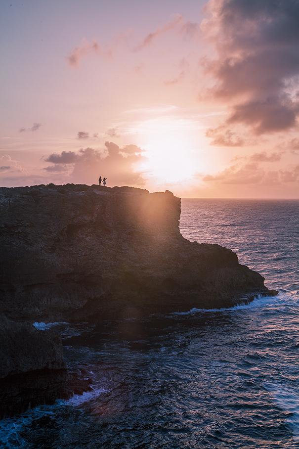 isola di barbados , tramonto a barbados