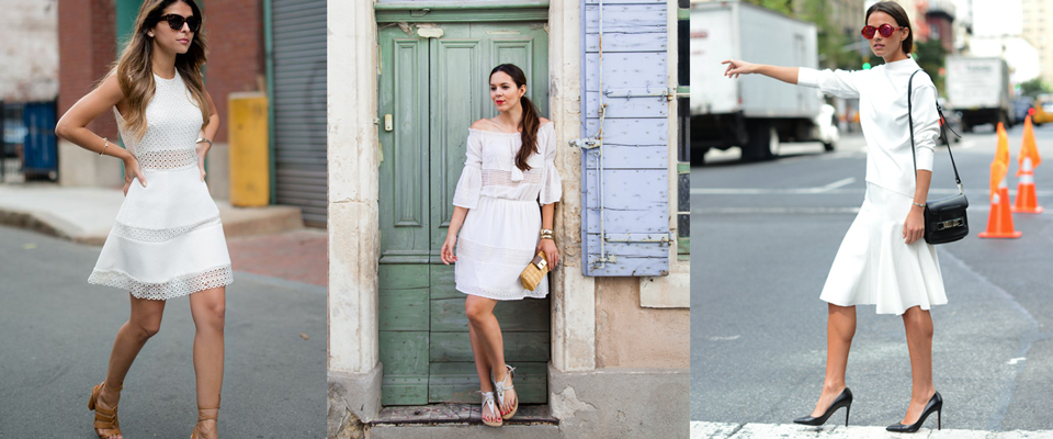 Vestito bianco accessori oro