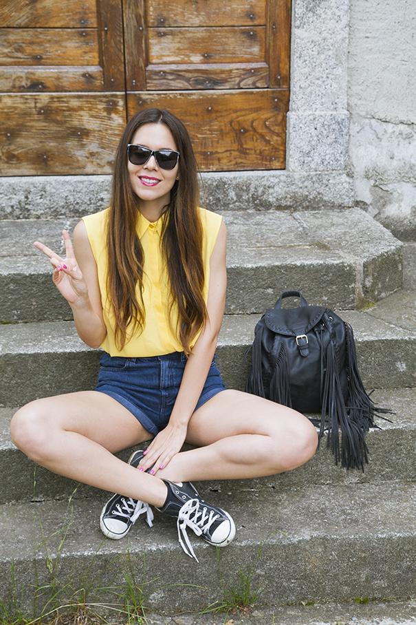 outfit estivo camicia gialla (1)