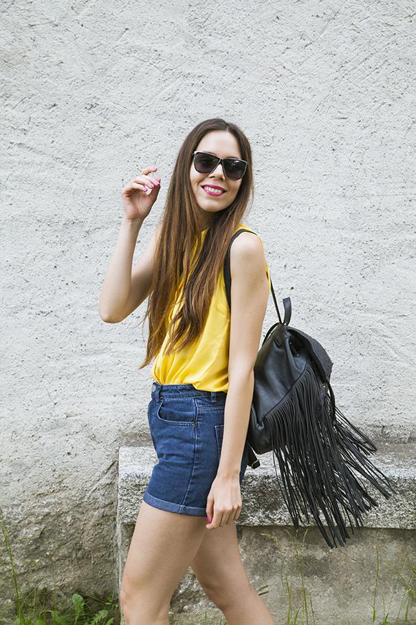 outfit estivo camicia gialla (4)