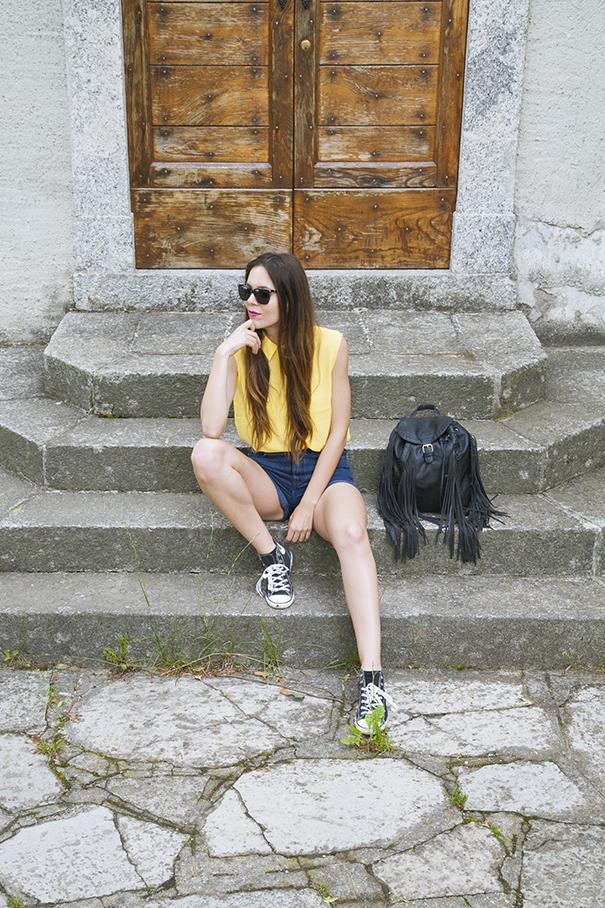 outfit estivo camicia gialla (7)