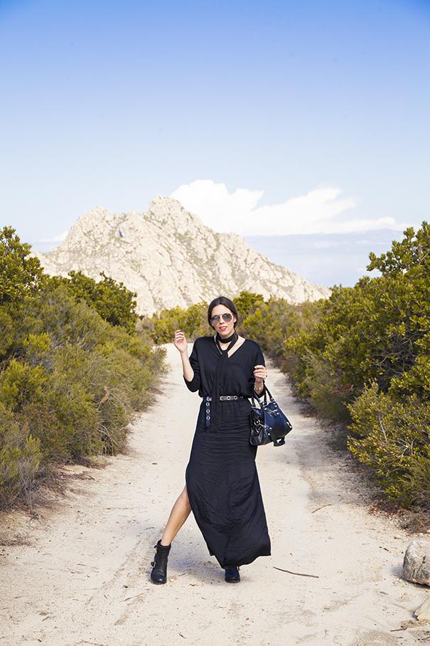 vestito lungo per il giorno | vestito nero lungo