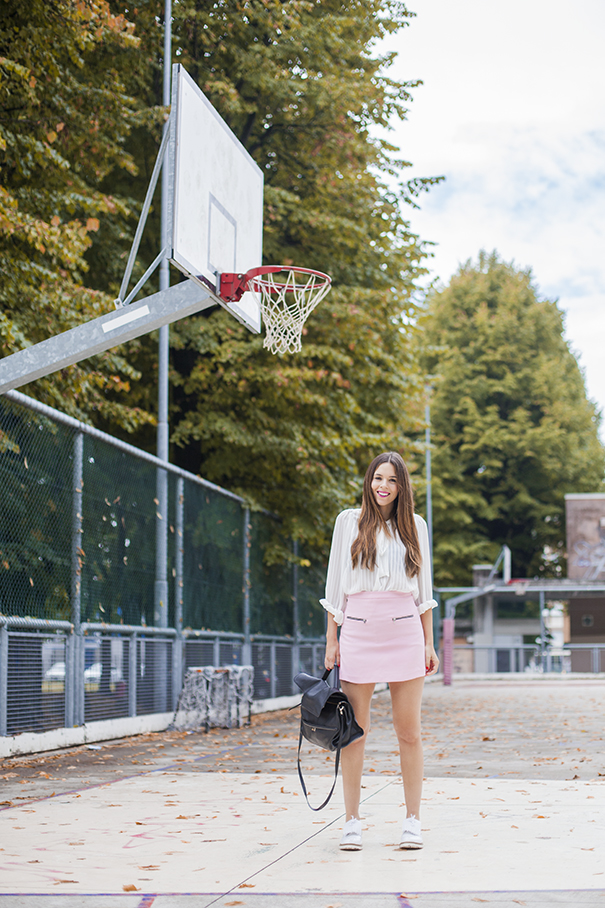 outfit rosa pastello| gonna rosa pastello