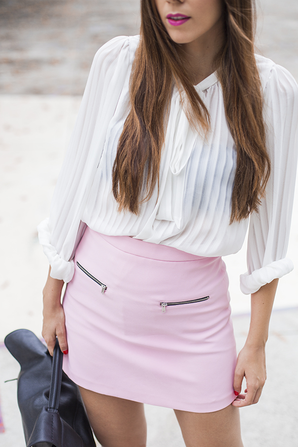 outfit gonna rosa | look pastello
