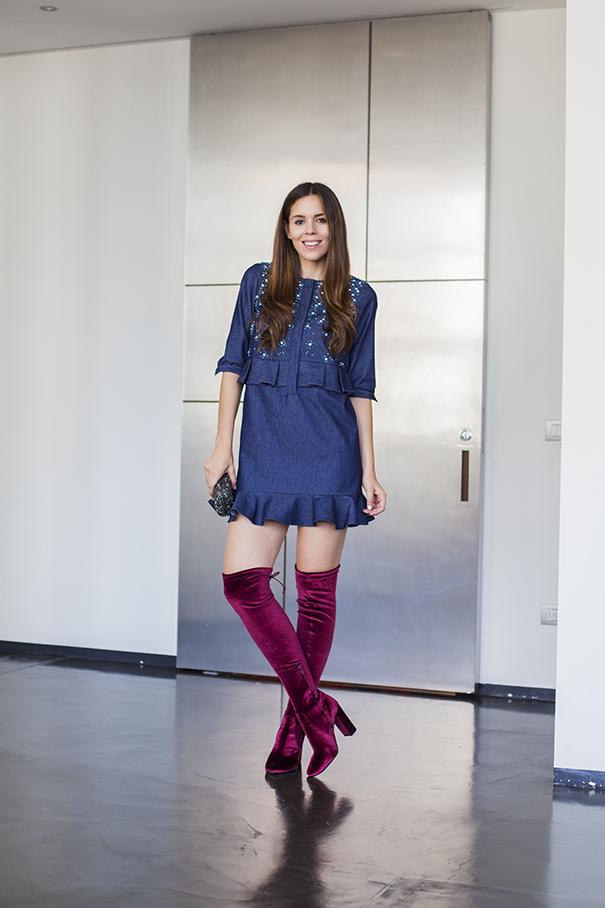 Stivali di velluto: ecco perchè il velluto is the new black!