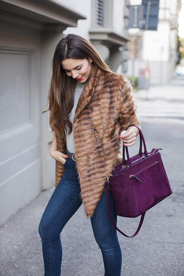 pelliccia classica | pelliccia marrone come indossarla