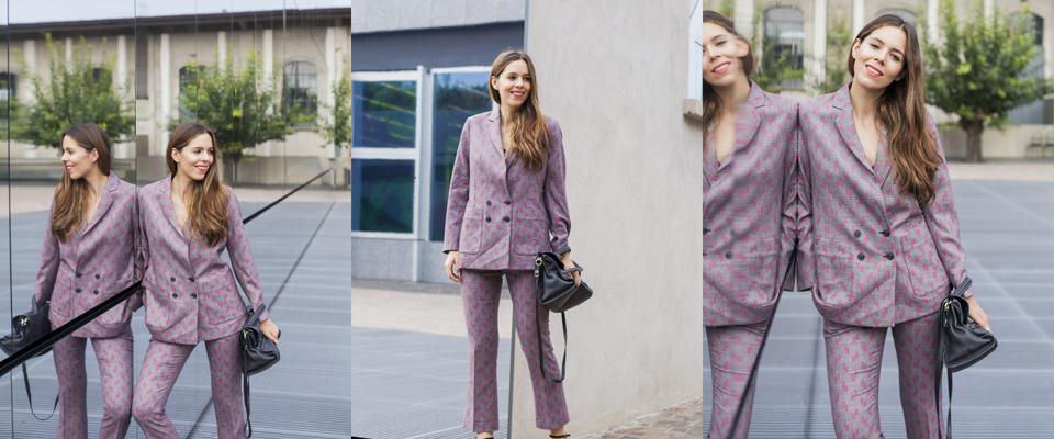 tailleur stampato irene colzi fashion blogger fashion influencer consigli di stile