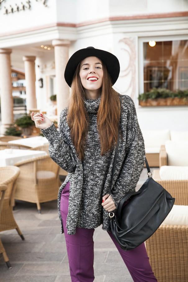 casual outfit inverno | outfit con cappello maschile nero