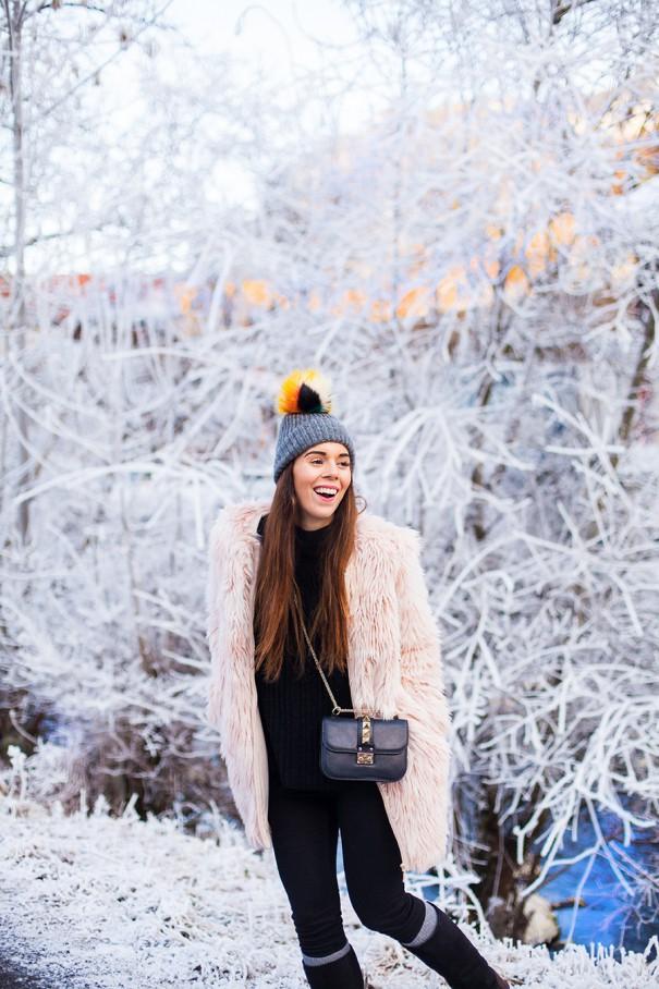 irene colzi outfit invernale | come vestirsi chic sulla neve