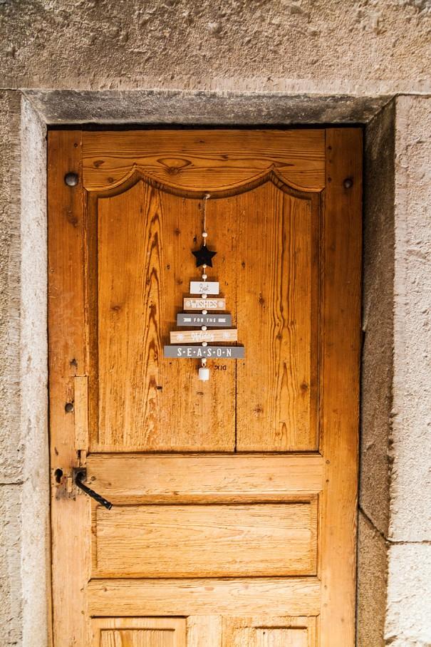 porta chalet in montagna