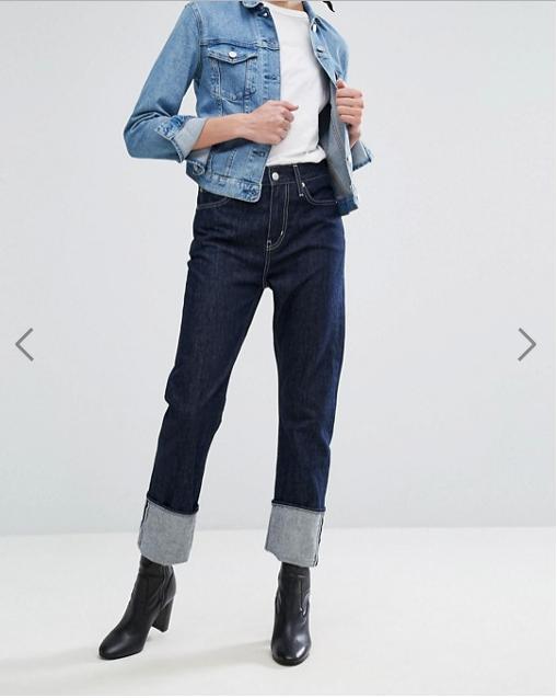 Jeans con maxi risvolto sul fondo | trend jeans primavera estate