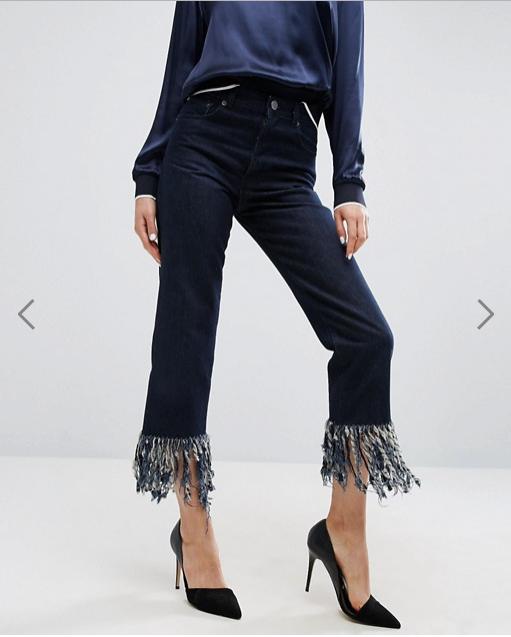 jeans primavera estate 2017 | jeans con fondo a frange