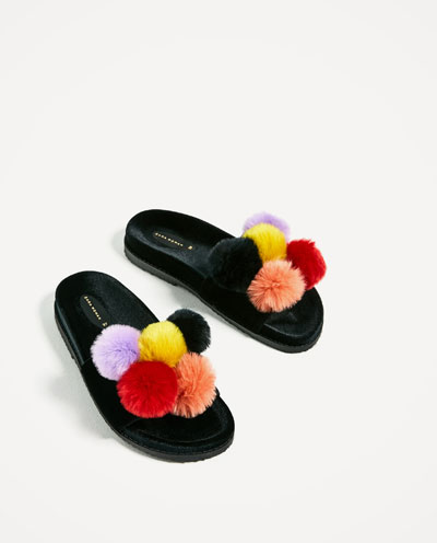 trend scarpe primavera estate 2017 sandali con il pelo
