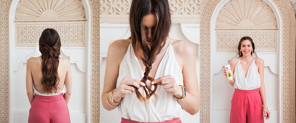 acconciatura veloce capelli lunghi