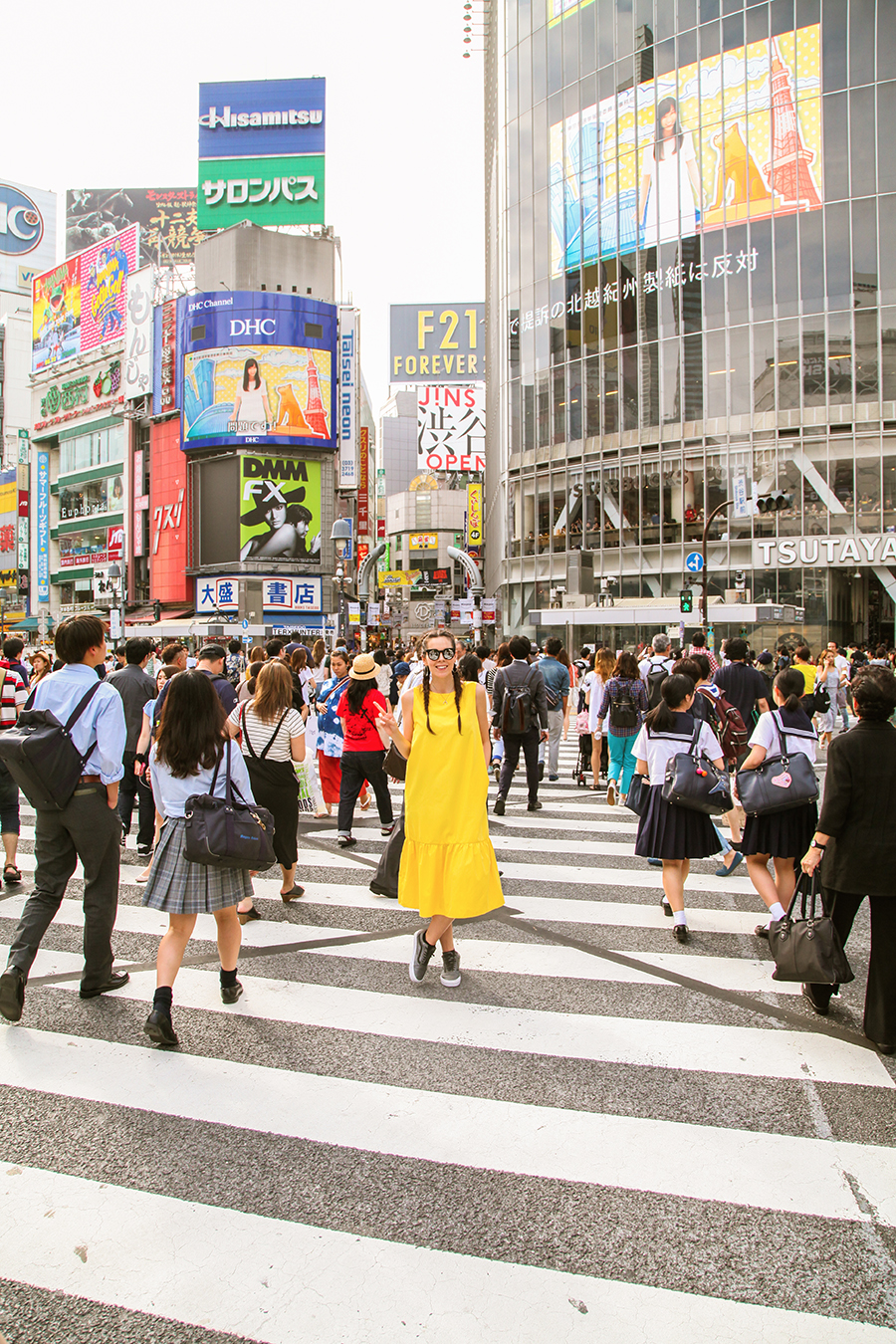 Incrocio di Shibuya quartiere tokyo