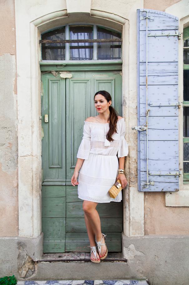 irene colzi vestito bianco