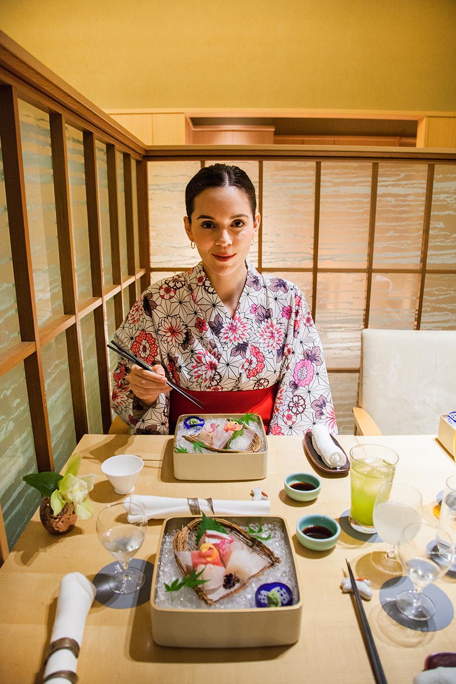 irene colzi cena sushi in kimono