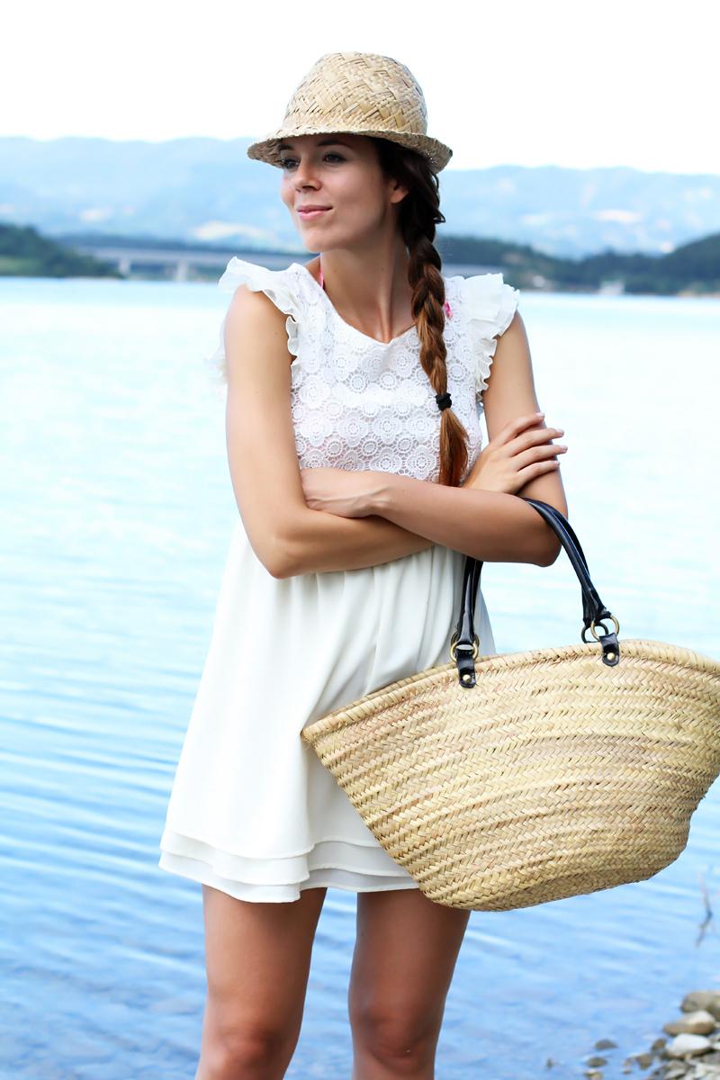 borsa da mare outfit con borsa da mare