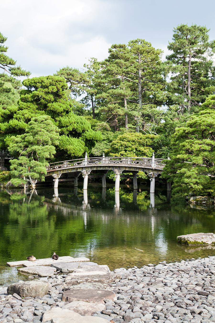 giardino esterno palazzo imperiale kyoto