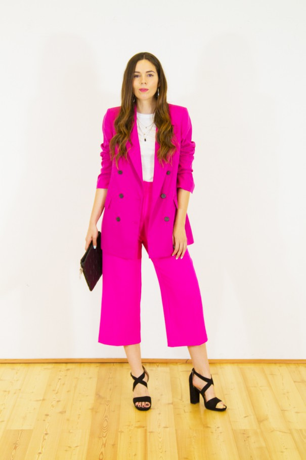 idea outfit tailleur colorato