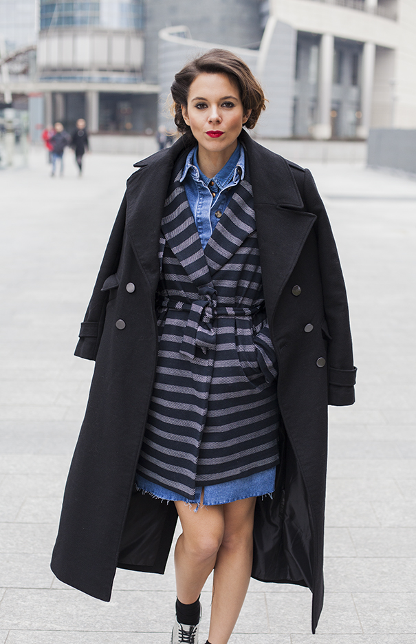 cappotto nero tendenza inverno 2017 2018