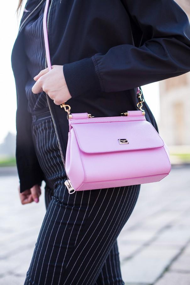 borsa rosa dolce e gabbana