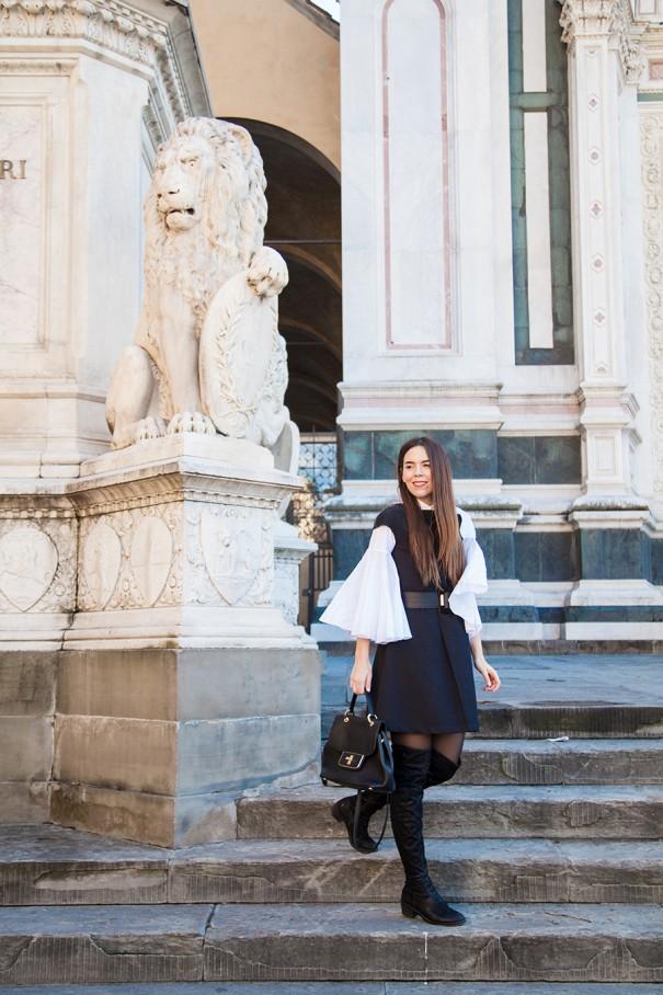 casual look vestito nero | casual outfit | sovrapposizioni di capi