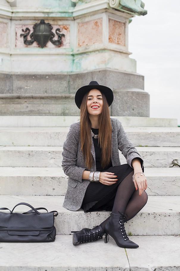 casual outfit | look invernale | idea look vestito nero
