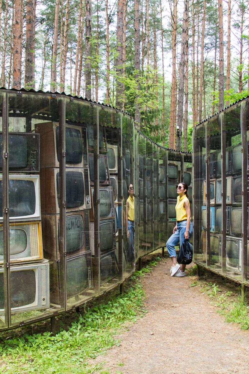 parco europa vilnius labirinto di televisioni