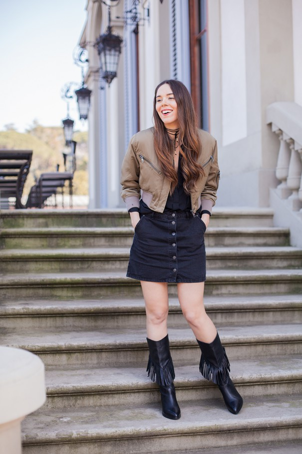 outfit con frange, look con frange