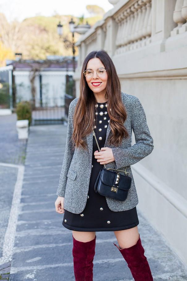 come indossare gli stivali in velluto