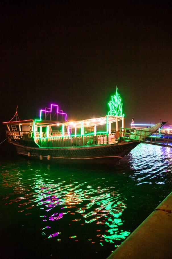 barche luminose Qatar