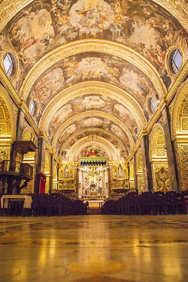 chiesa a malta, chiese a malta, interno chiesa