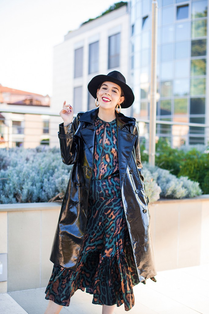 look irene colzi trench nero