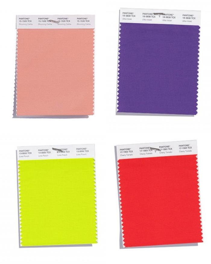 colori tendenza 2018 pantone
