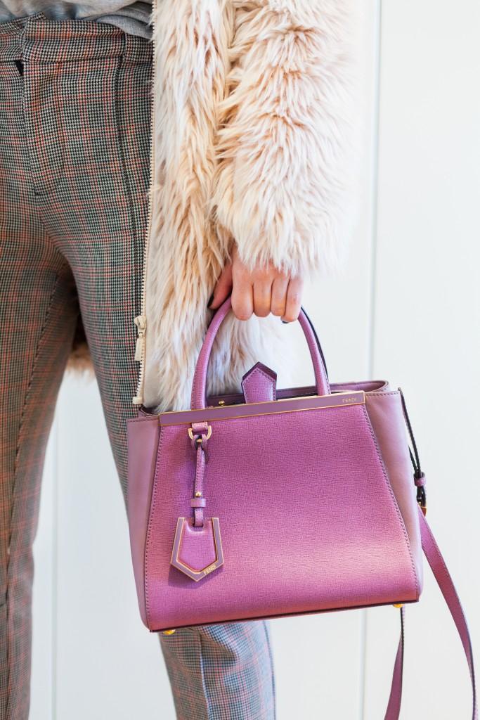 pelliccia cappotto rosa