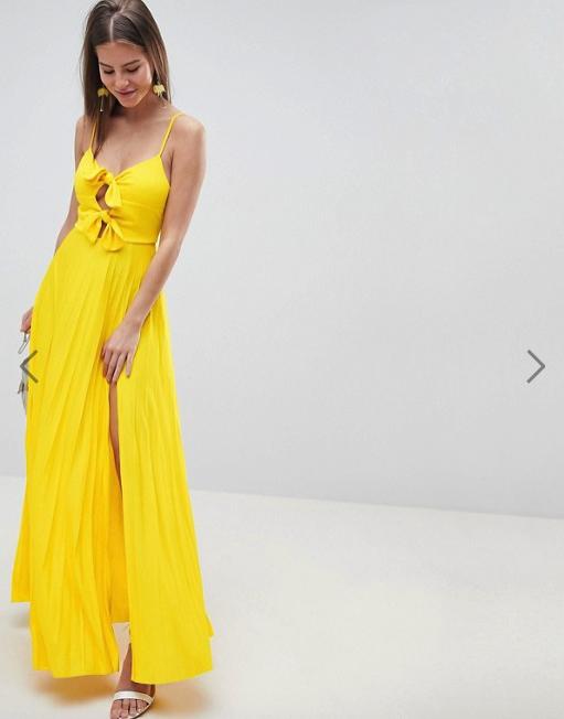 vestito lungo giallo