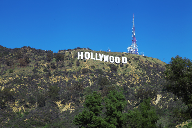 scritta hollywood skyline