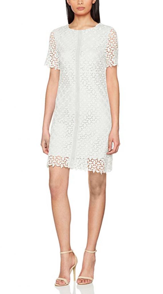 vestito fiorato bianco