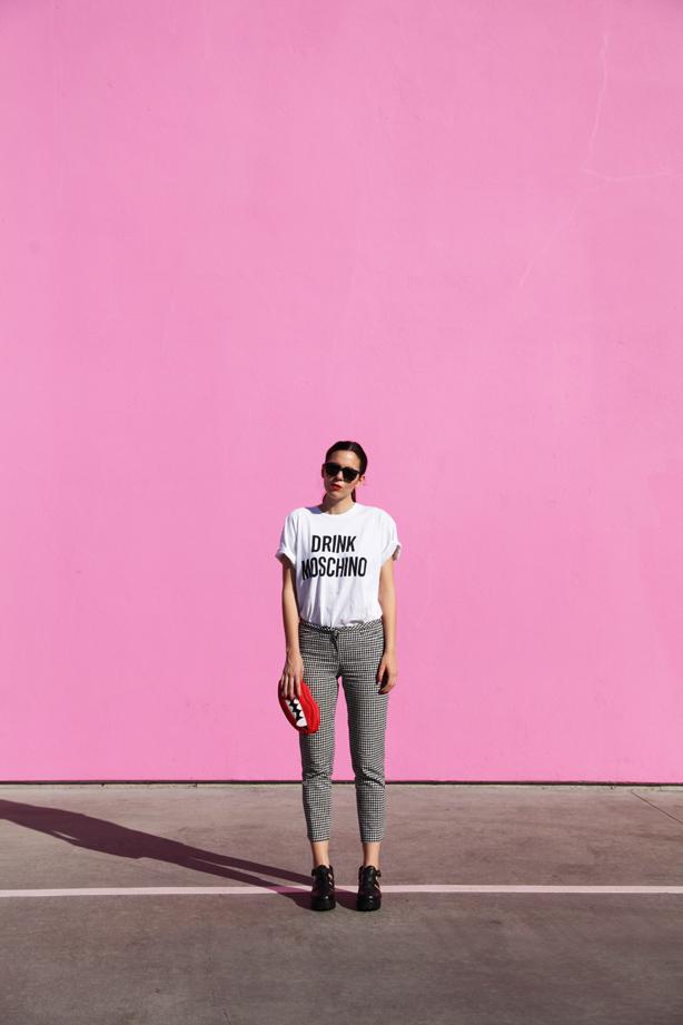 los angeles muro rosa