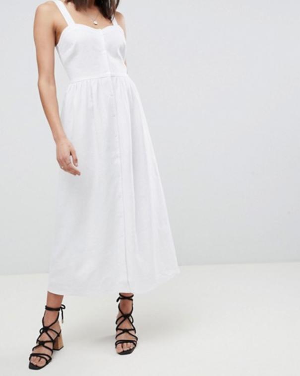 vestito bianco oversize