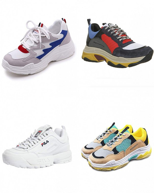 come indossare le chunky sneakers