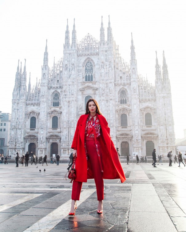 irene colzi outifit milano fashion week