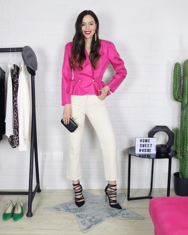 5 look 1 pantalone bianco