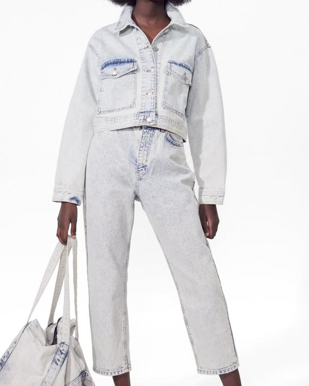 completo in denim: pantaloni e giacca