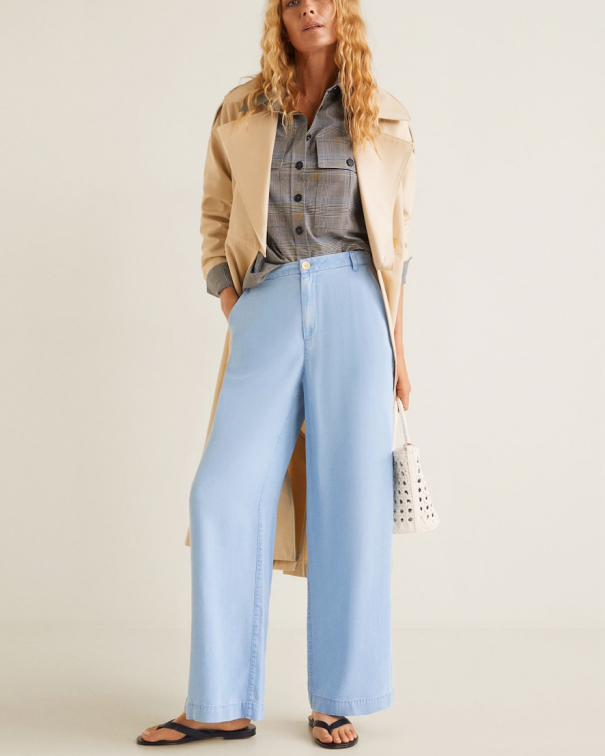 jeans palazzo a vita alta