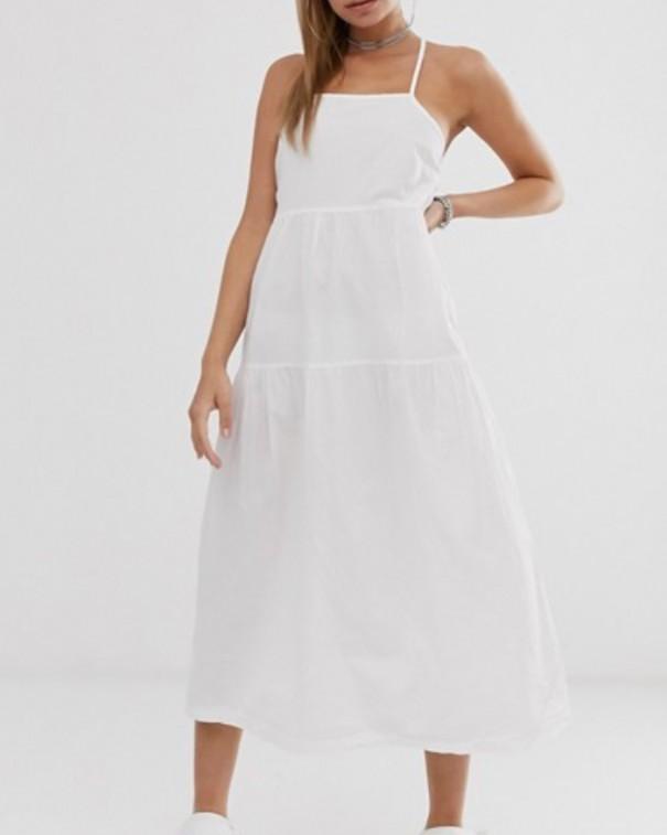 abito stile impero bianco