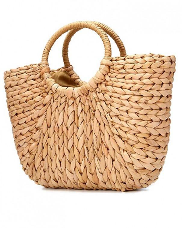 borsa da spiaggia classica di paglia
